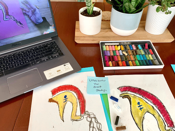 adding art to homeschool history
