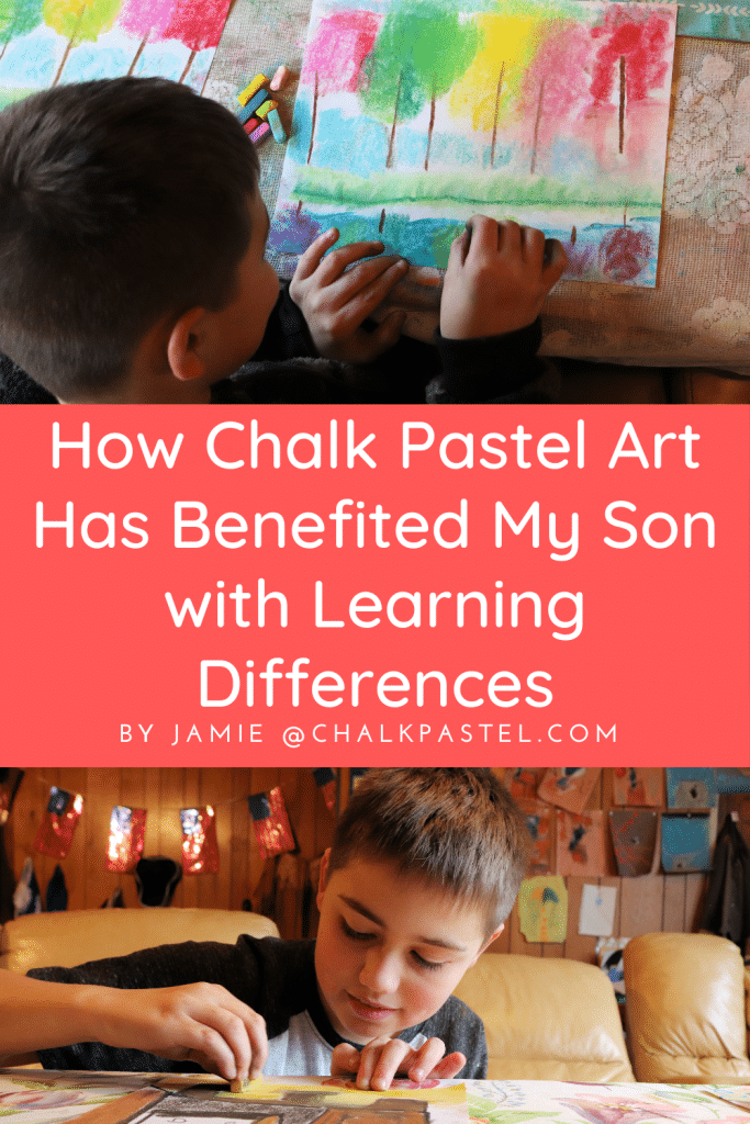 Incorporating Chalk Pastel Art into our homeschool adventures this year has secured such a special place in the hearts of my children. This type of fruitful learning through Chalk Pastel Art has proven beneficial for all of my children, especially for my son with special needs. I want to share with you just how chalk pastel art has benefited my son with learning differences.