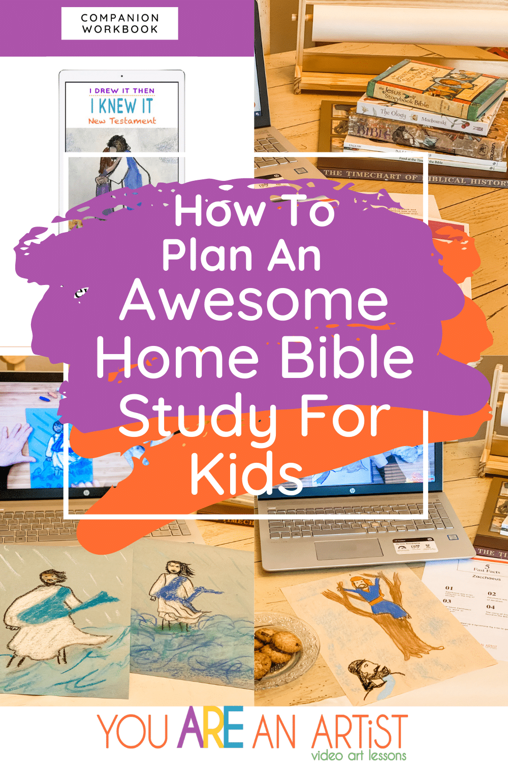 Ideas for Planning an Awesome Home Bible Study for Kids - Art, History, Nature, Bible and more! #Bibleforkids #Biblestudyforkids #Bible #art #homeschoolart #homeschool