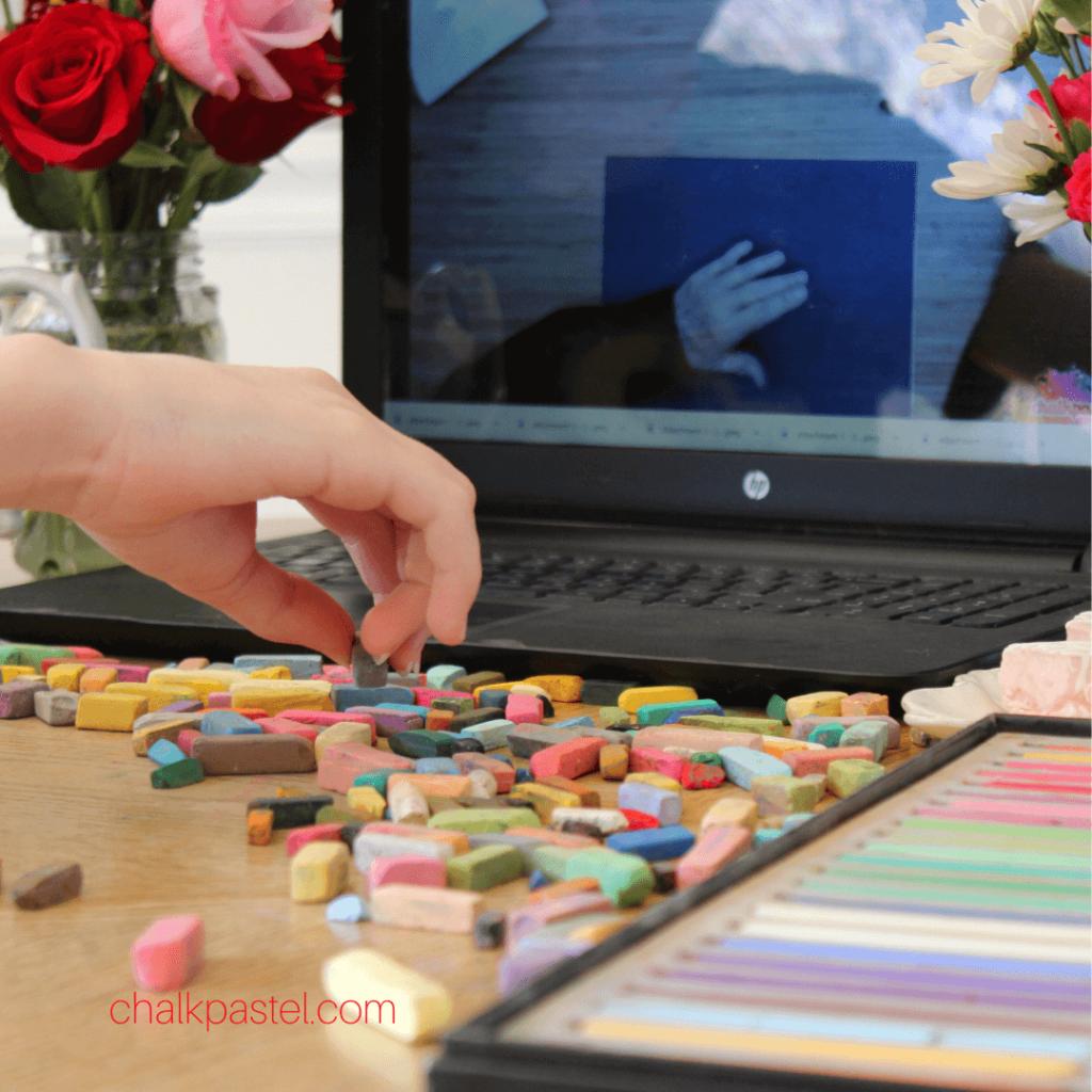 Spring Art Celebration with Chalk Pastels