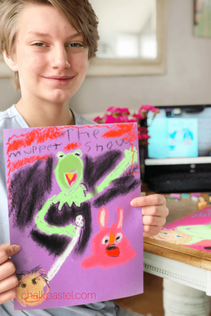 The Muppet Show with Chalk Pastels
