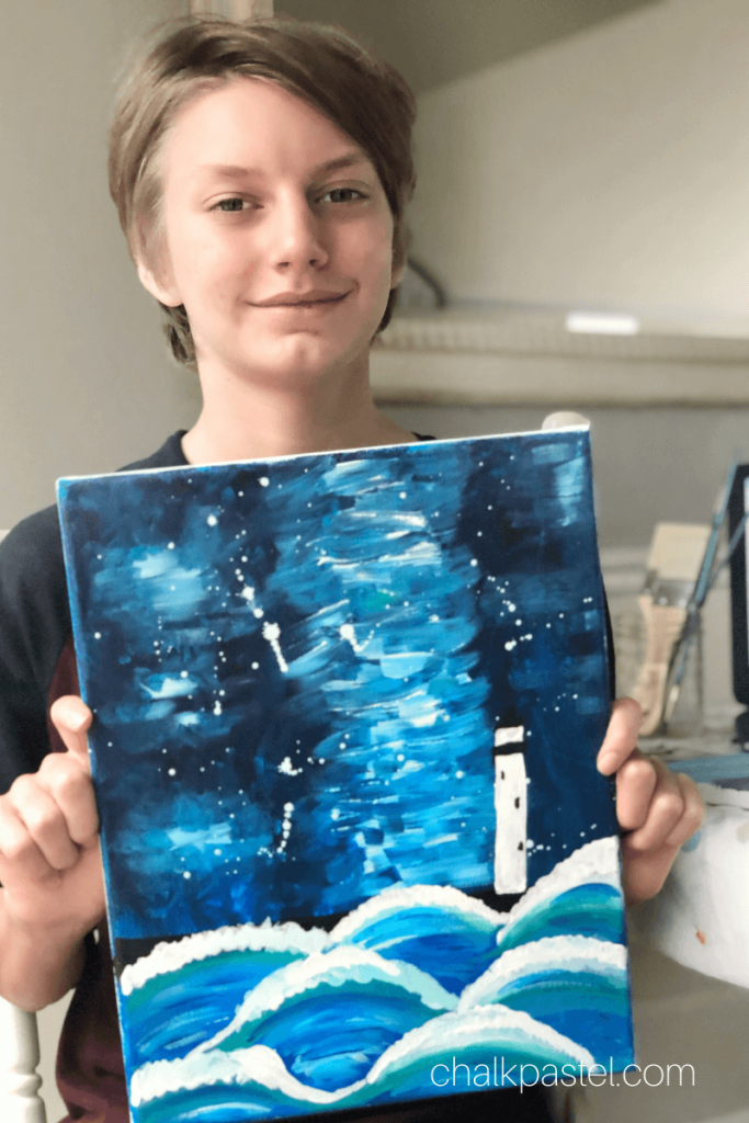 Easy Acrylic Painting with Nana