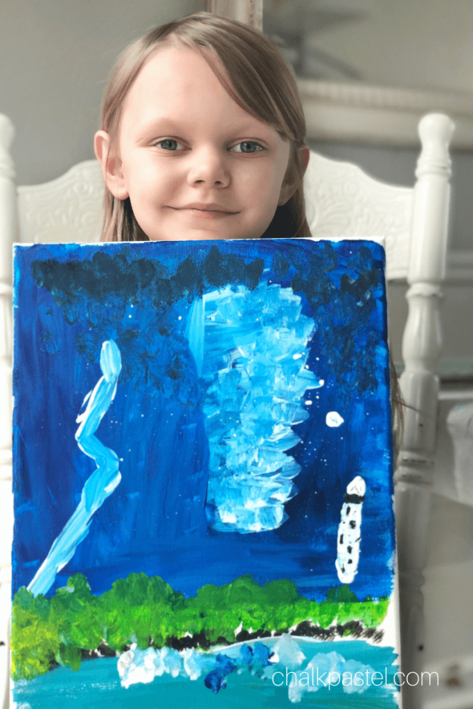 Easy Acrylic Painting with Nana