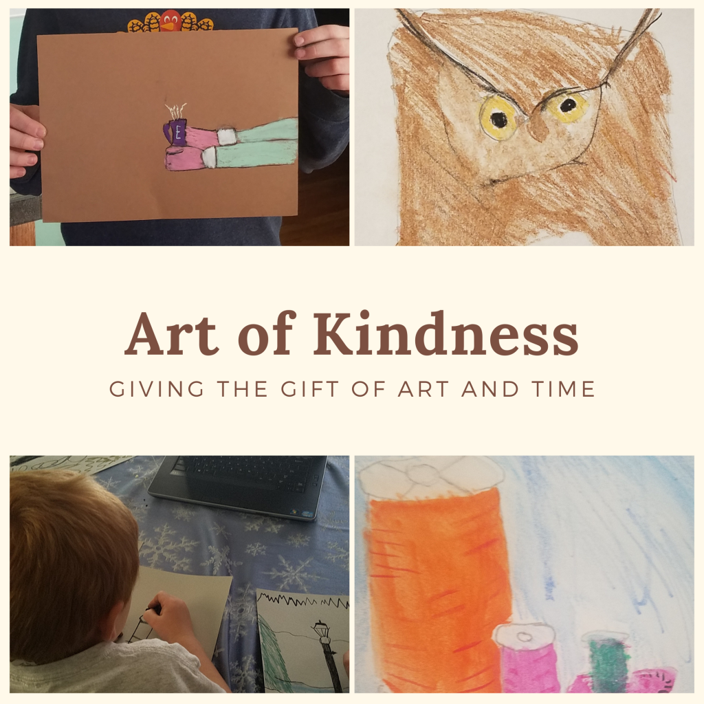 There are many ways to share small acts of kindness through artwork to make someone else's day just a little bit brighter. It's the art of kindness.