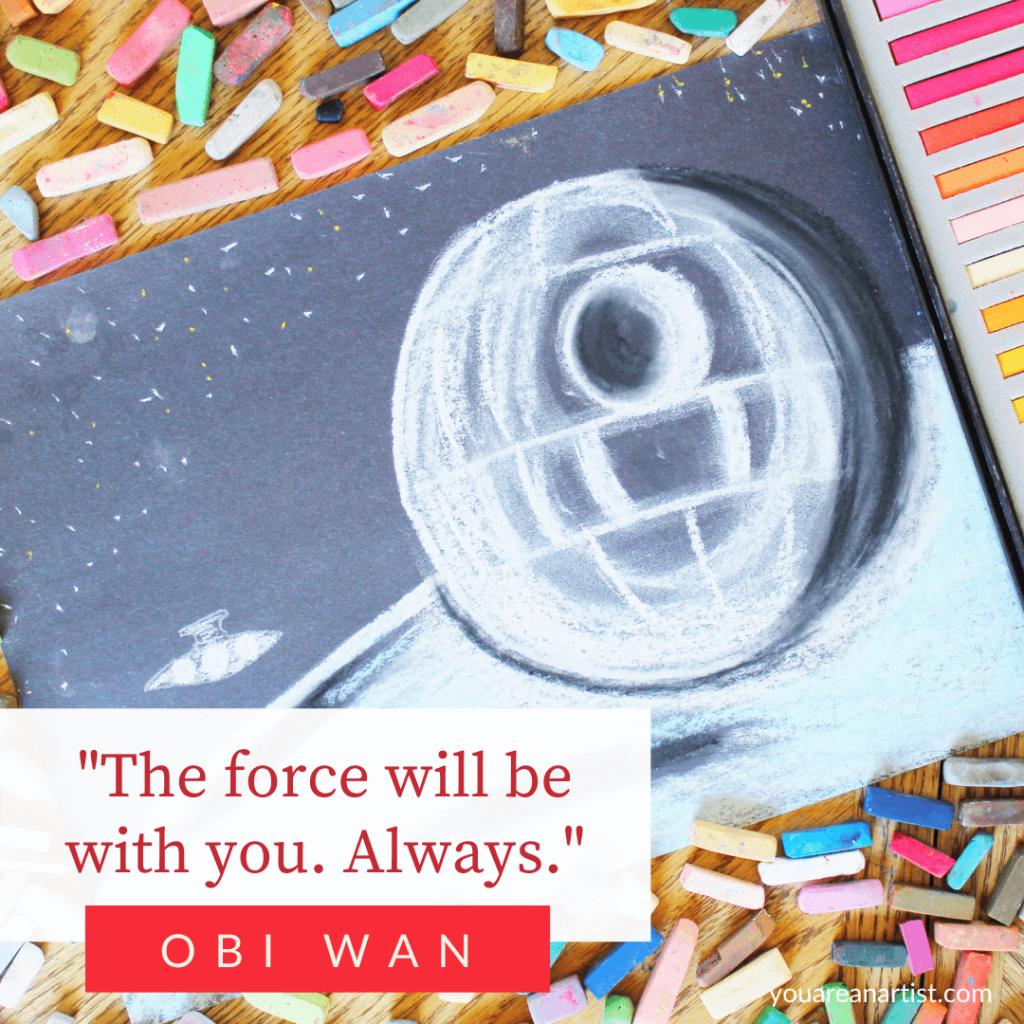 Enjoy a sample of Chalk Pastels at the Movies with Nana's How to Draw Star Wars in Chalk Pastels Video Art Lessons! It's a Star Wars Art Marathon!
