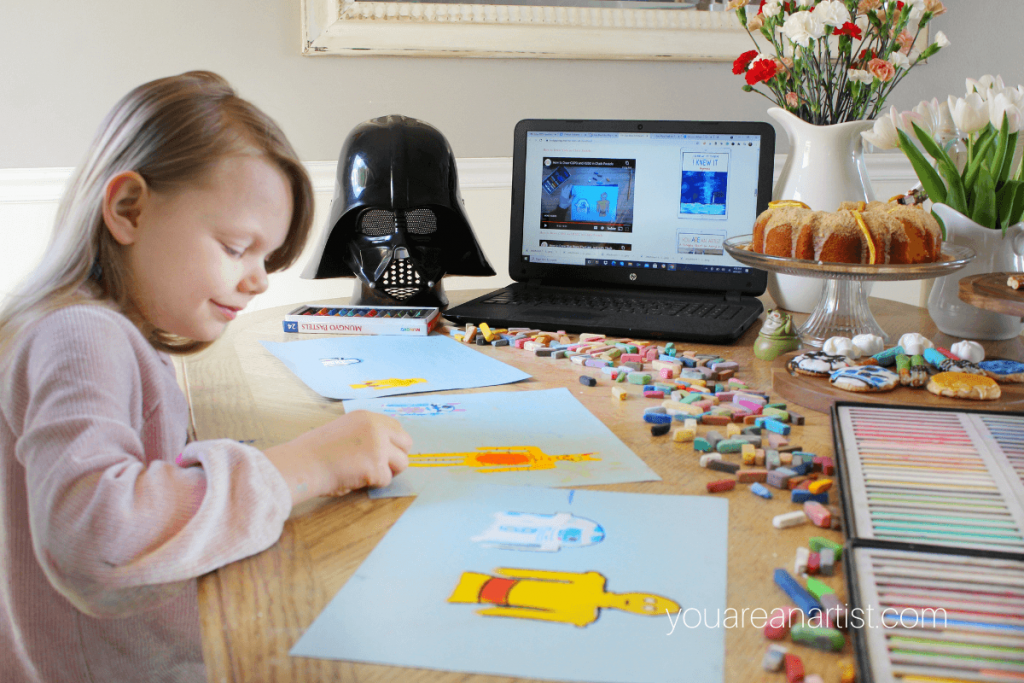 Star Wars Chalk Pastel Teatime with Nana
