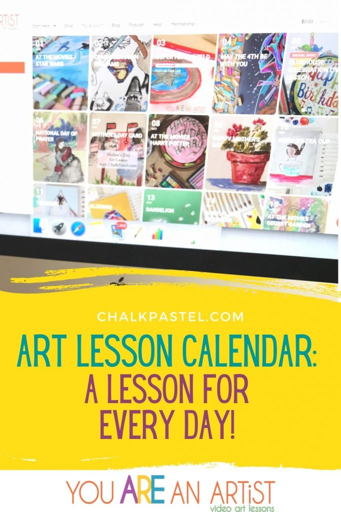 "There are times when I want a ""done for me"" solution. Enter: the Art Lesson Calendar from Chalk Pastel! Great for planners or a serendipitous types."