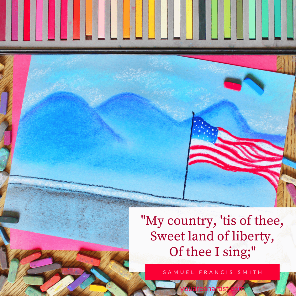 The Art of Patriotism - Incorporating Patriotic Events. What better way to learn about the flag and remember its importance than to paint it.