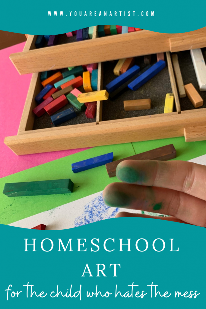 homeschool art for the child who hates mess