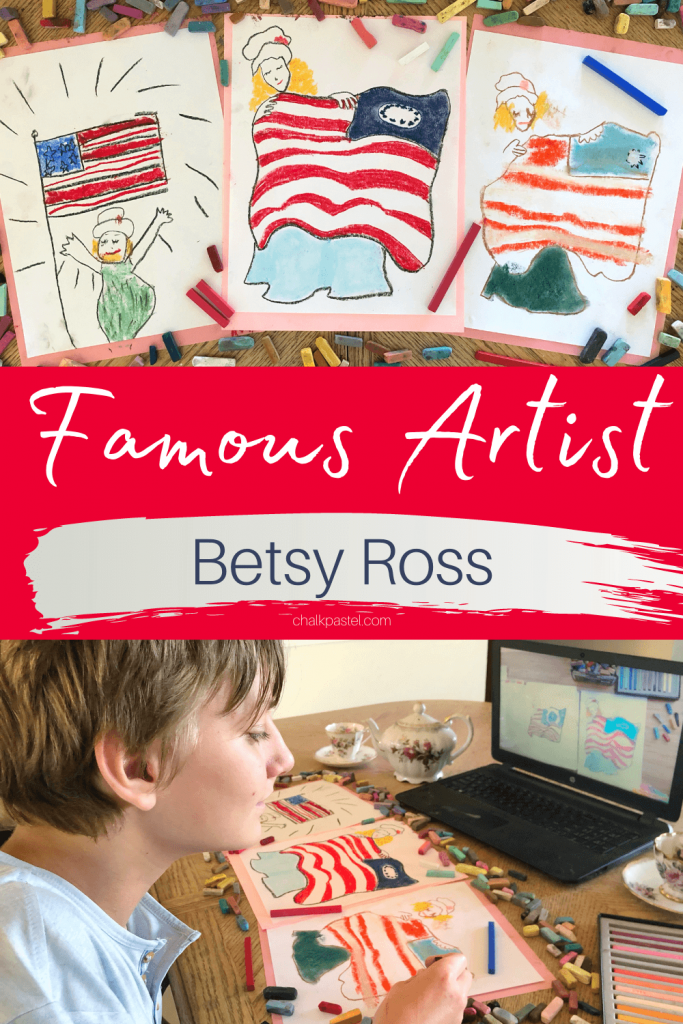 The Art of Patriotism - Incorporating Patriotic Events - Betsy Ross Famous Artist lesson with Nana.
