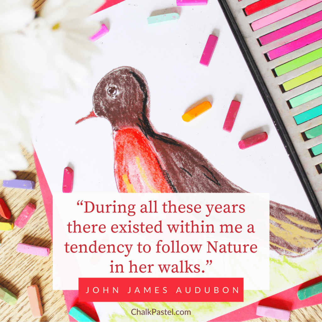"""John James Audubon Quote: """"During all these years there existed within me a tendency to follow Nature in her walks."""" - John James Audubon"""