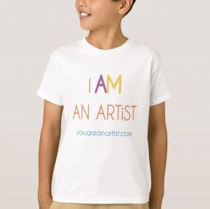I AM an ARTiST t-shirt for children