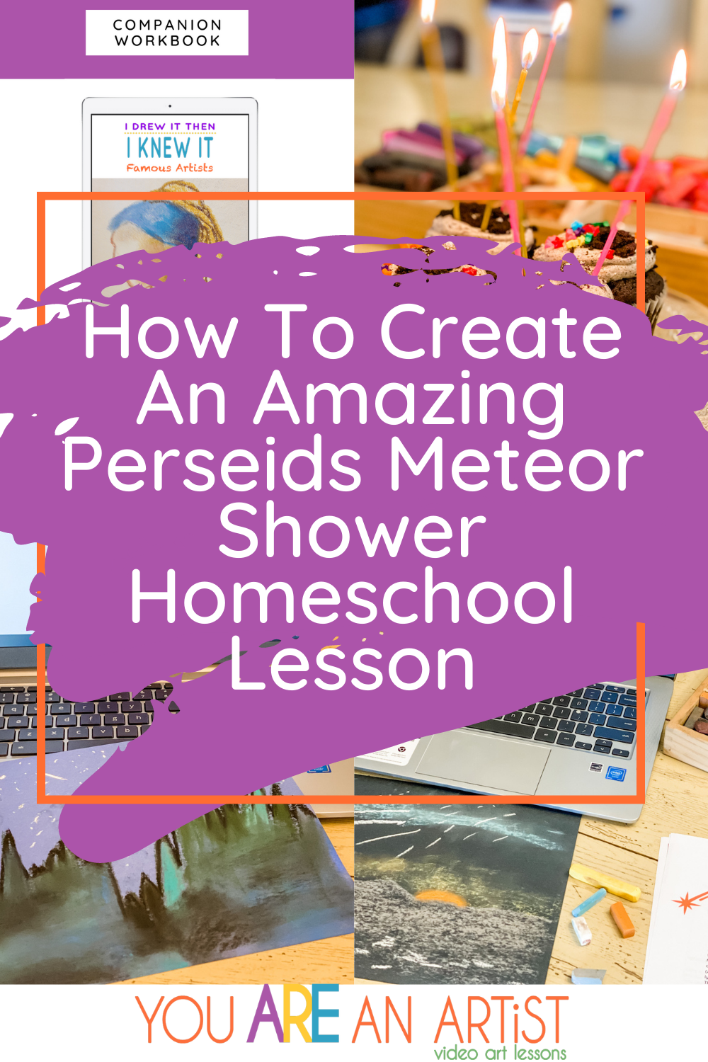 A Perseids Meteor Shower Homeschool Lesson is perfect for summer! So many ideas here to help you make a memorable learning experience at home! #perseids #meteorshower #homeschool #homeschoollessonplans
