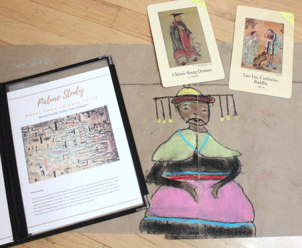 Chalk Pastel Ancient History Drawing
