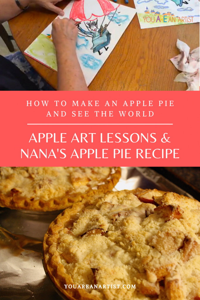 It's time to paint some apples, don't you agree? Nana has several homeschool lessons you can enjoy. We are pointing to Apple Chalk Pastel Art Lessons for homeschool so you can easily add them to your studies and read aloud times!