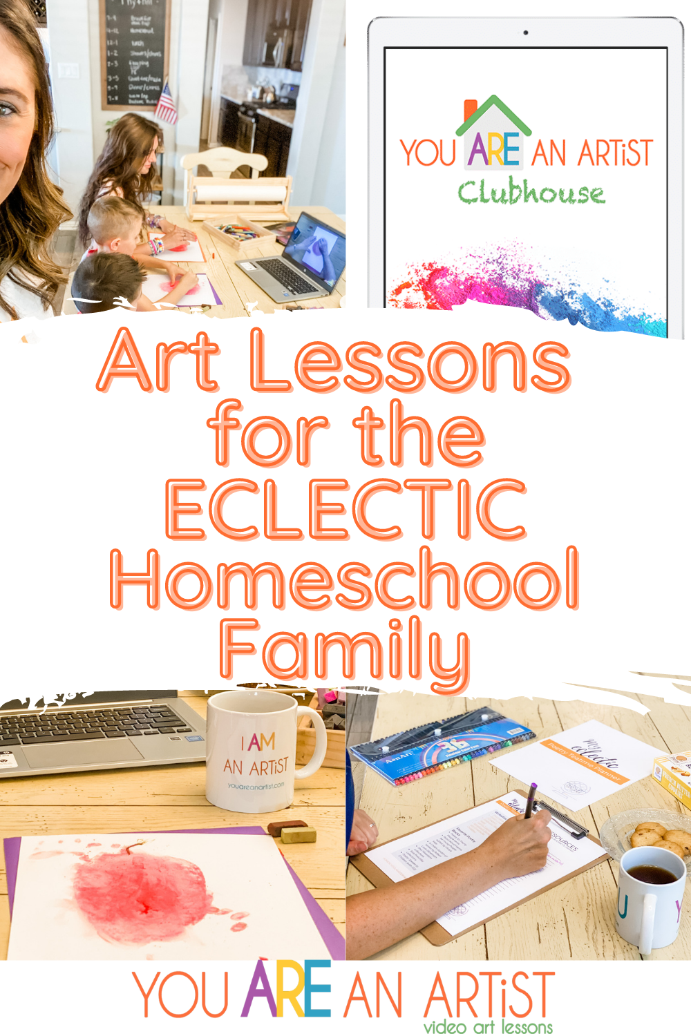 An eclectic homeschool is perfect for incorporating art! You can easily add art into practically any lesson, and your kids will thank you. #homeschoolart #eclectichomeschooling #homeschoolartlessons