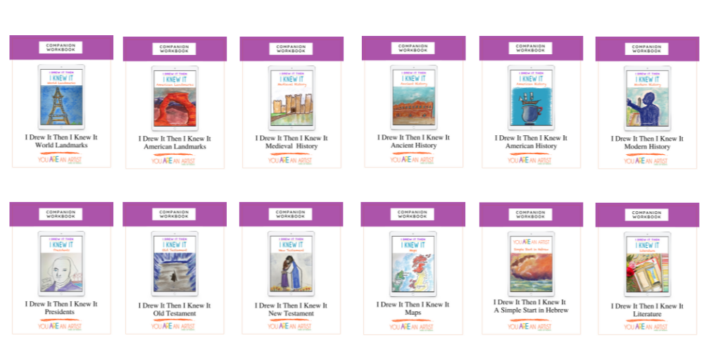 The I Drew It Then I Knew It Companion Workbooks are designed for you to use however they work best in your homeschool. They are flexible and easily complement your homeschool history curriculum. Best Art Lessons for Your Homeschool History Curriculum