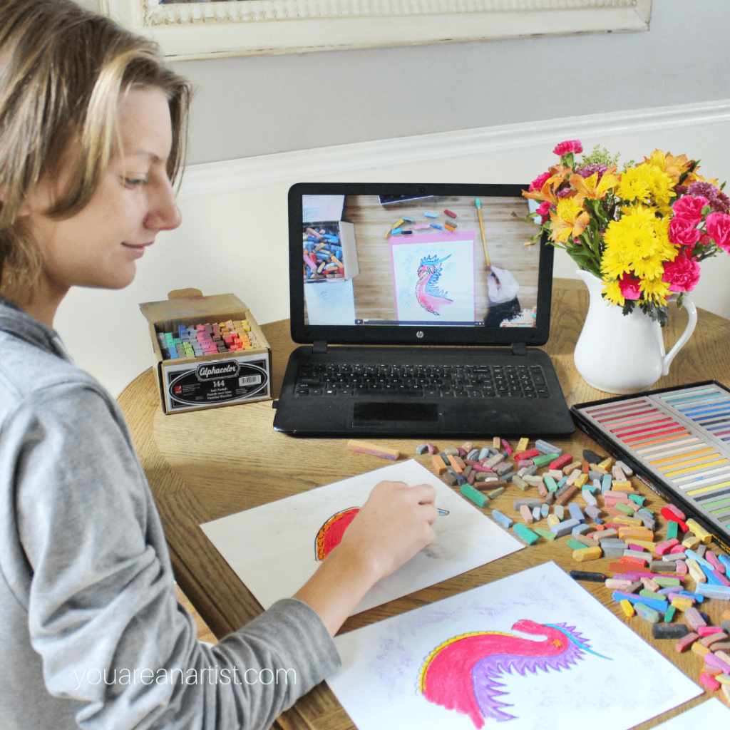 Medieval Times Homeschool Art with Chalk Pastels