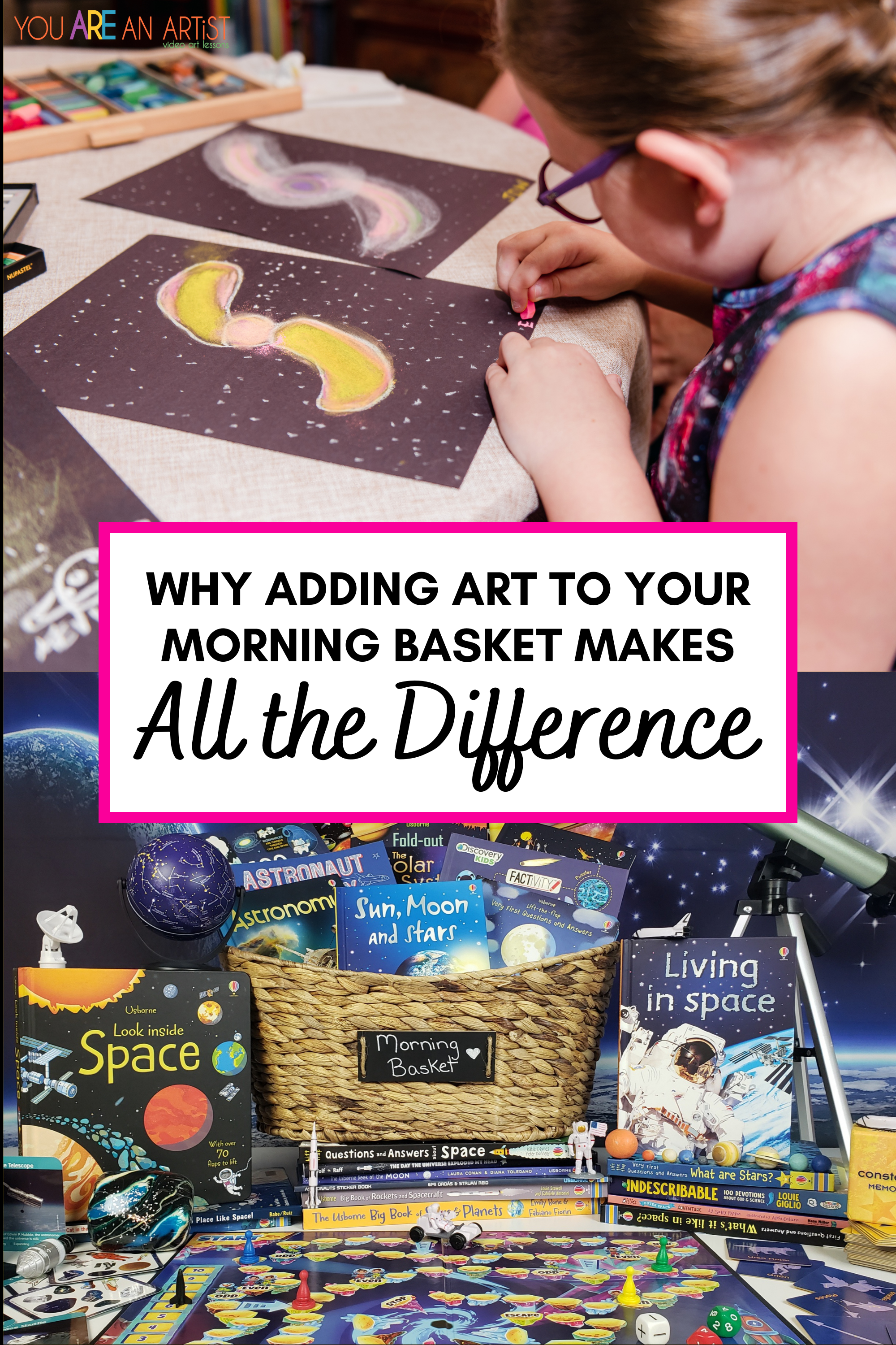 Why Adding Art To Your Morning Basket Makes All The Difference - Adding art to our morning baskets has been an awesome benefit for our homeschool lessons throughout the day.