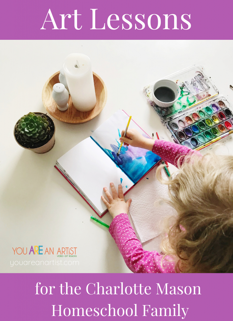 We love using the You ARE an ARTiST Lessons because they tie in so well with the Charlotte Mason phliosophy. With so many options, we could do art every day! Art Lessons for the Charlotte Mason Homeschool Family.