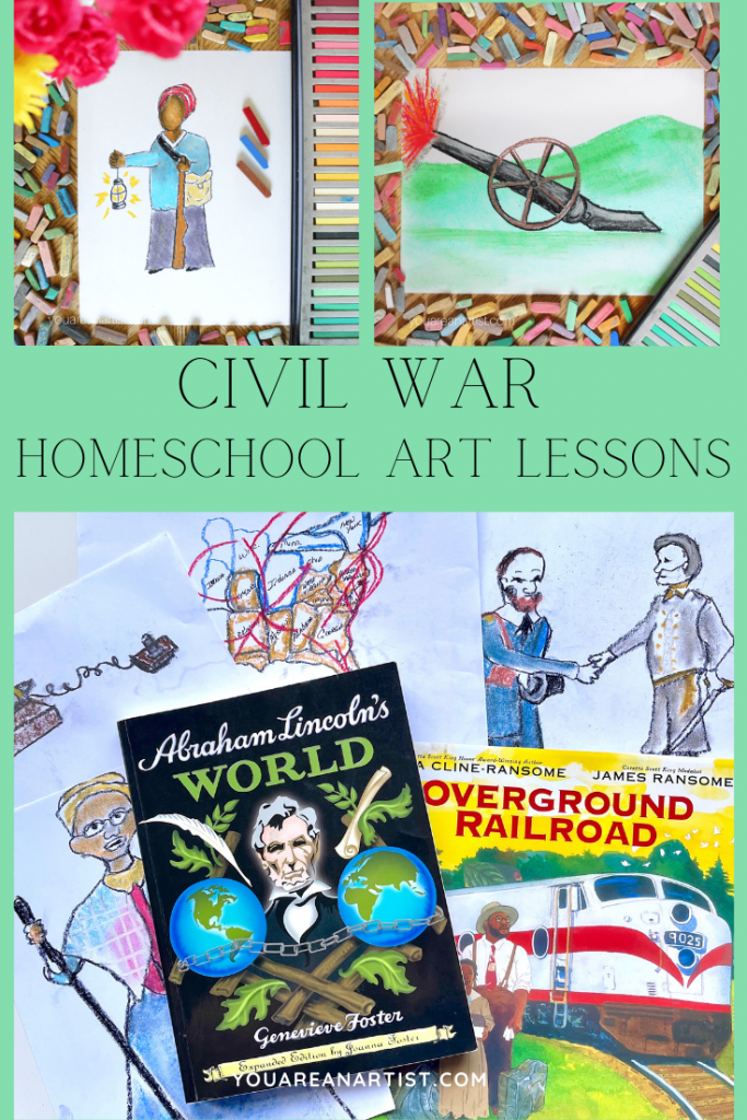 Nana's Civil War Hands-On Homeschool Lessons and the I Drew It Then I Knew It American History notebook complement your Civil War homeschool studies.