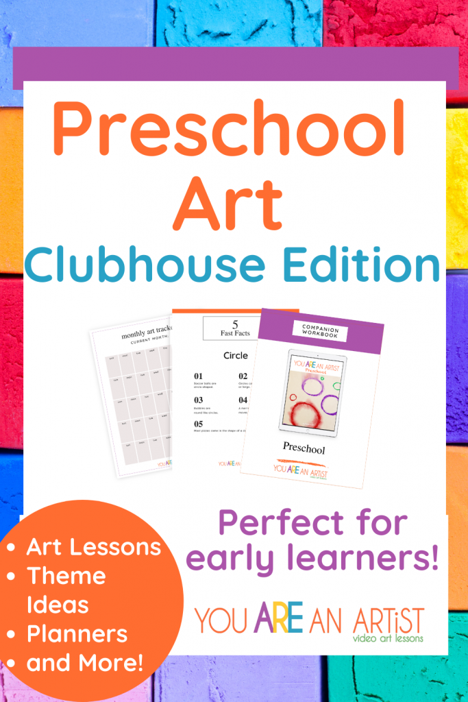 Homeschool Preschool Companion Workbook! You ARE an ARTiST Clubhouse members not only get access to ALL of Nana's Preschool Video Art Lessons but all 700+ at the Complete level! In addition, you have this beautiful resource as a companion to Nana's preschool lessons.