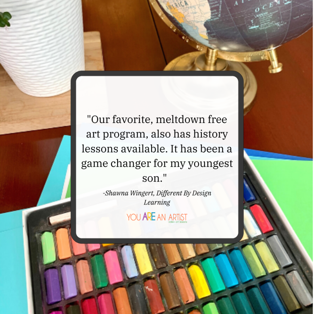 Art Lessons for your homeschool history curriculum! Nana's I Drew It then I Knew It video lessons are the easy way to learn history.