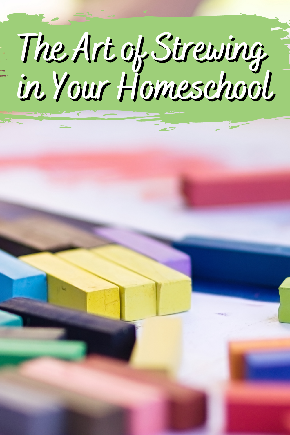 Strewing is definitely an art! It's all about carefully choosing special items and activities for your kids to explore. Strewing in your homeschool is a wonderful way to spark your children's creativity! Art lessons can be a fabulous resource to strew.