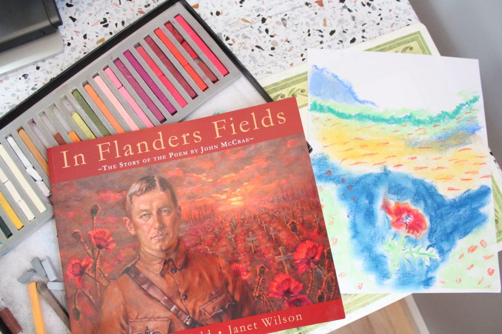 In Flanders Field - the story of the poem by John McCrae - is an excellent resource for learning about Veterans Day in your homeschool and pairs well with Nana's Veterans Day poppies art lesson.