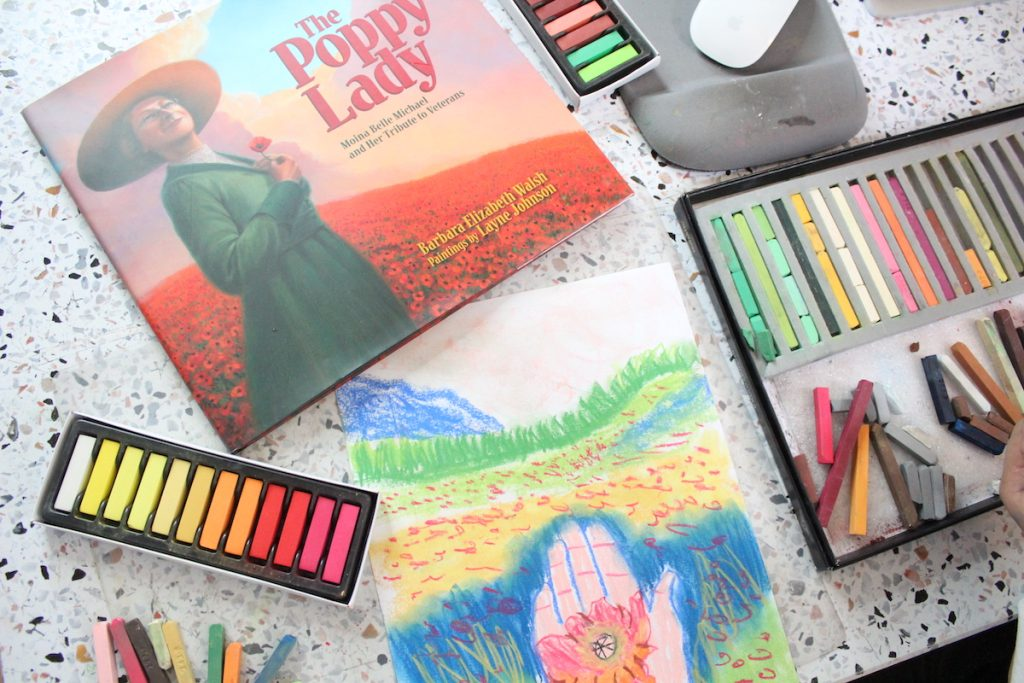 The Poppy Lady picture book is a wonderful resource to add to your Veterans Day Homeschool Activities and to pair with You ARE an ARTiST's poppies art lesson.