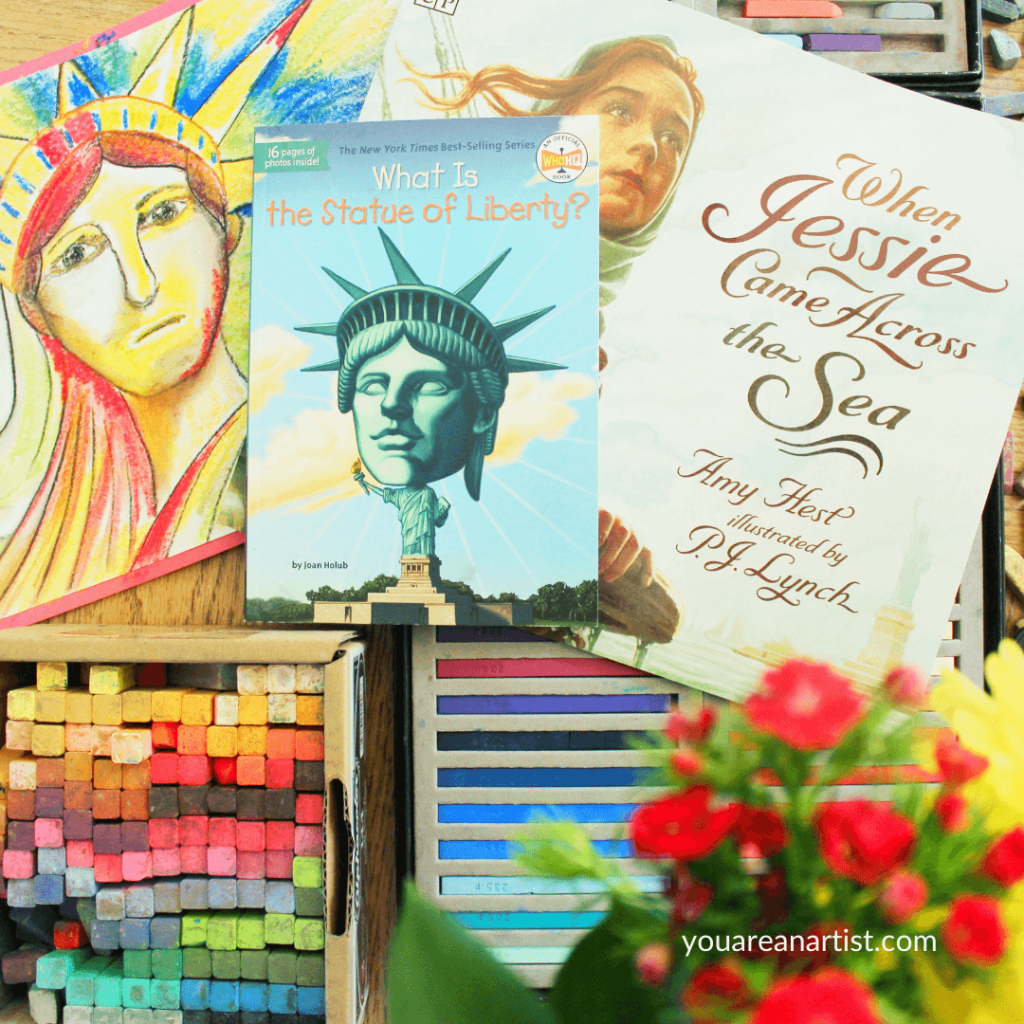 A Homeschool Lesson on Artist Steve Penley's Statue of Liberty with fantastic resources for a unit study.